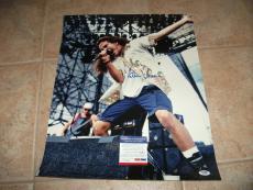 Eddie Vedder Pearl Jam Signed Autographed PSA Certified 16x20 Live Concert Photo