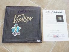 Eddie Vedder Pearl Jam Signed Autographed Vitalogy LP Album PSA Certified