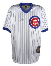 Eddie Vedder Pearl Jam Signed Cubs White Pinstripe Majestic Jersey BAS #A07597