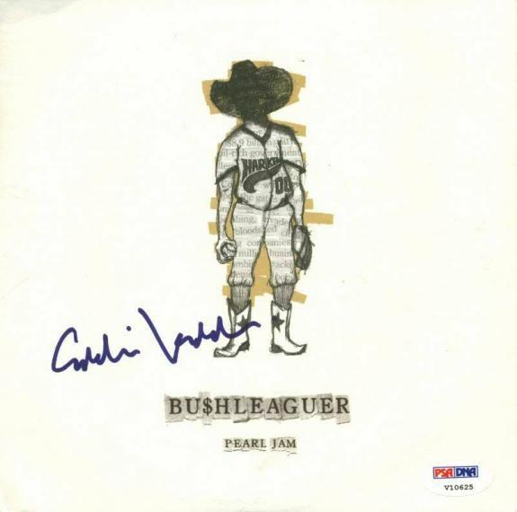 Eddie Vedder Pearl Jam Signed Mini Album W/ Vinyl PSA/DNA #V10625