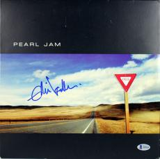 Eddie Vedder Pearl Jam Signed Yield Album Cover W/ Vinyl BAS #A85424