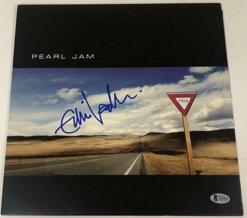 Eddie Vedder Pearl Jam Signed Yield Album Vinyl Proof Autograph Beckett Loa