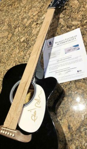 Eddie Vedder Signed Autograph Fender Acoustic Guitar - Pearl Jam, Rare, Beckett