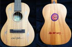 Eddie Vedder Signed Drawn Personalized Pono Ukulele 2016 Chicago Cubs Psa/dna