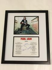 "Eddie Vedder Signed Framed ""alive"" Lyric Sheet 16x20 Display Wave Sketch Jsa Loa"