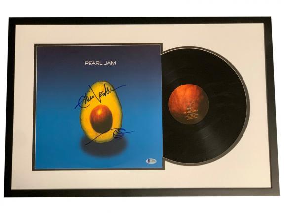 Eddie Vedder Signed Framed Pearl Jam Album Vinyl Beckett Bas Coa
