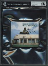 Eddie Vedder Signed Into The Wild Soundtrack Cd Cover BAS Slabbed