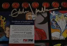 Eddie Vedder Signed Pearl Jam Back Spacer Lp Record Album Psa/dna Coa