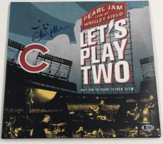 Eddie Vedder Signed Pearl Jam Let's Play Two Album Vinyl Lp Autograph Proof Bas