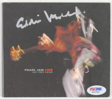 Eddie Vedder Signed Pearl Jam On Two Legs Cd Cover PSA/DNA #X01226