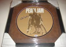 Eddie Vedder Signed Pearl Jam Ten 10 Album Lp Leather Matted Framed Psa/dna Coa