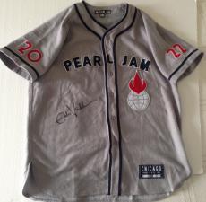 EDDIE VEDDER Signed PEARL JAM Wrigley Field Chicago JERSEY Cubs Baseball PSA DNA