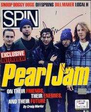 Eddie Vedder & Stone Gossard Autographed Signed Magazine PSA/DNA #V09105