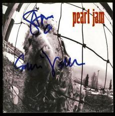 Eddie Vedder & Stone Gossard Signed Pearl Jam CD Sleeve Insert JSA #Y45497
