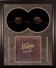 "Eddie Vedder ""vitalogy"" Autographed Framed Album Cover Jsa Coa Only"
