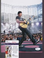 EDGE - U2 - hand signed 8x10 Photo Music Guitar BONO + JSA COA Q05299