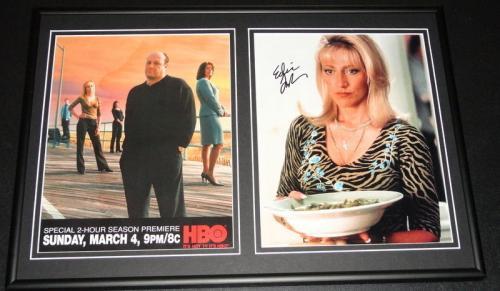 Edie Falco Signed Framed 12x18 Photo Set The Sopranos