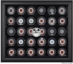 Edmonton Oilers 30-Puck Black Display Case - Mounted Memories