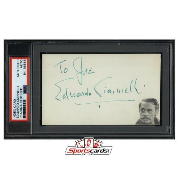 Eduardo Ciannelli Signed 3x5 Index Card Actor d. 1969 PSA/DNA Gunga Din