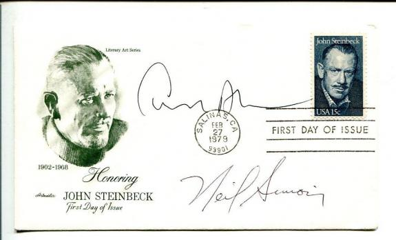 Trend Mark Irving Wallace Signed Autographed First Day Cover Jsa Cert Screenwriter Author Cards & Papers Movies