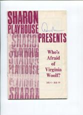 Edward Albee Who's Afraid of Virginia Woolf? Signed Broadway Autograph Playbill