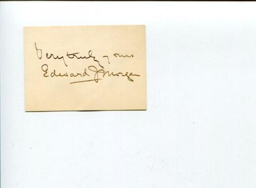 Edward J. Morgan Early Stage Broadway Theater Actor Signed Autograph