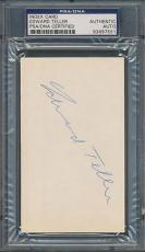 Edward Teller Index Card PSA/DNA Certified Authentic Auto Autograph Signed *7551