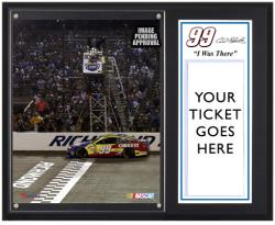 Carl Edwards Sublimated 8'' x 10'' Plaque with Lug Nut-Limited Edition of 599 - Mounted Memories