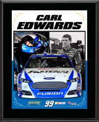 "Carl Edwards Sublimated 10.5"" x 13"" Stylized Composite Plaque"