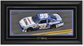 Carl Edwards Framed Mini Panoramic with Facsimile Signature - Mounted Memories