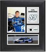 Carl Edwards Framed 15'' x 17'' Collage with Race-Used Tire - Mounted Memories
