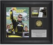 Carl Edwards 2013 Subway Fresh Fit 500 at Phoenix Winner Collectible 2-Photo Collage with Gold-Plated Coin - Mounted Memories