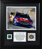 "Carl Edwards 2013 Federated Auto Parts 400 Framed 8"" x 10"" Photograph with Gold Coin & Race-Used Flag - Limited Edition of 199"