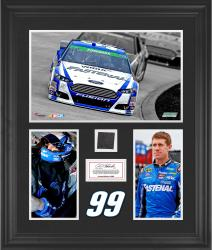 Carl Edwards Framed 3-Photograph Collage with Race-Used Tire-Limited Edition of 500 - Mounted Memories