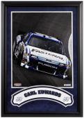 "Carl Edwards Framed Iconic 16"" x 20"" Photo with Banner"