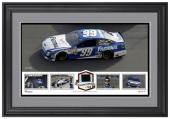 Carl Edwards Framed Panoramic with Race-Used Tire-Limited Edition of 500 - - Mounted Memories