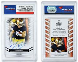 Tyler Eifert Notre Dame Fighting Irish Autographed 2013 Leaf Draft #74 Card