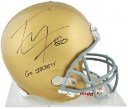 Tyler Eifert Notre Dame Fighting Irish Autographed Riddell Replica Helmet with Go Irish Inscription