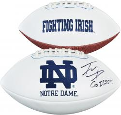 "Tyler Eifert Notre Dame Fighting Irish Autographed White Panel Football with ""Go Irish"" Inscription - Mounted Memories"
