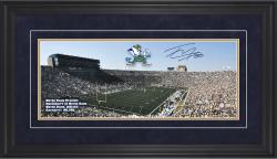 "Tyler Eifert Notre Dame Fighting Irish Framed Autographed 10"" x 30"" Gameday Panoramic"