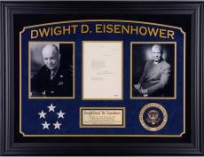 Dwight Eisenhower Framed Autographed Letter