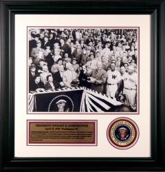 Dwight D. Eisenhower Framed 16x20 Photo with Presidential Patch