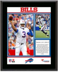 EJ Manuel Buffalo Bills First Career Win Sublimated 10.5'' x 13'' Plaque - Mounted Memories