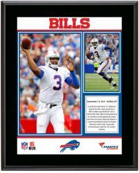 "EJ Manuel Buffalo Bills First Career Win Sublimated 10.5"" x 13"" Plaque"