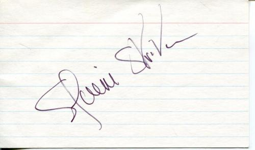 Elaine Stritch Broadway Theater Actress & Singer Signed Index Card Autograph