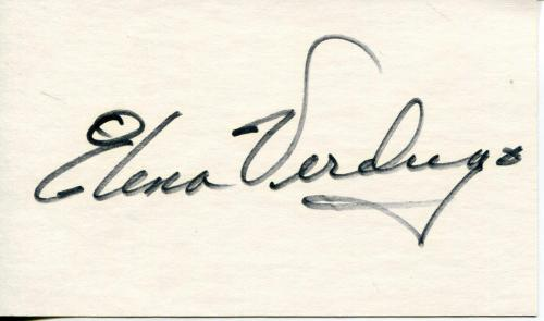 Elena Verdugo Actress In Marcus Welby & Meet Millie Signed Card Autograph