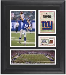 Eli Manning New York Giants Framed 15'' x 17'' Collage with Game-Used Football - Mounted Memories