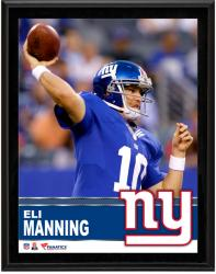 Eli Manning New York Giants Sublimated 10.5'' x 13'' Plaque - Mounted Memories