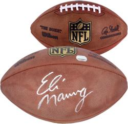Wilson Eli Manning New York Giants Autographed Authentic Game Football - Mounted Memories