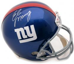 New York Giants Eli Manning Autographed Replica Helmet - Mounted Memories